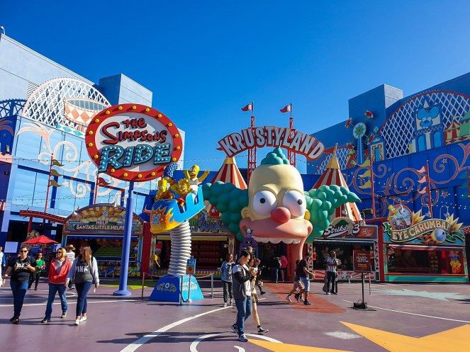 The Krustyland entrance to The Simpsons Ride at Universal Studios Hollywood