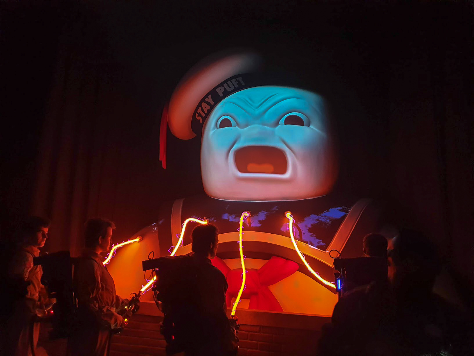 The giant Stay Puff Marshmallow Man from Ghostbusters