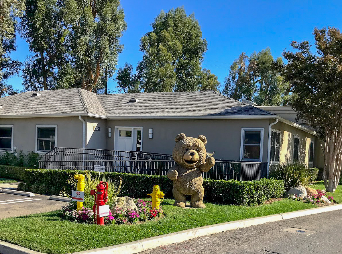 A giant version of TED bear