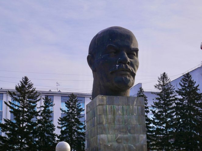 The biggest head statue in the world of Vladimir Lenin in Ulan Ude