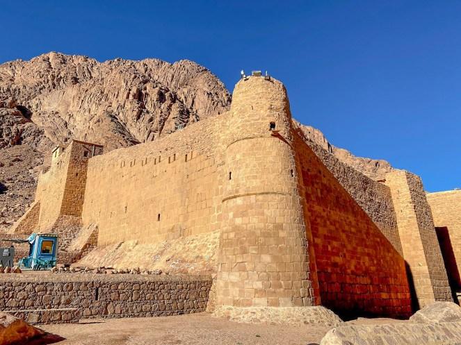 The brick walls of St Catherine's Monastery, Mount Sinai, Egypt