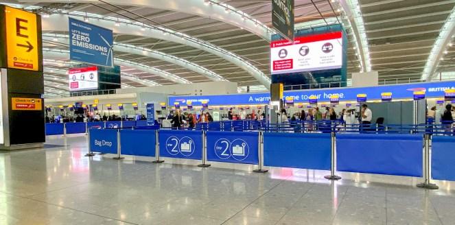 London Heathrow Terminal 5 British Airways check in area