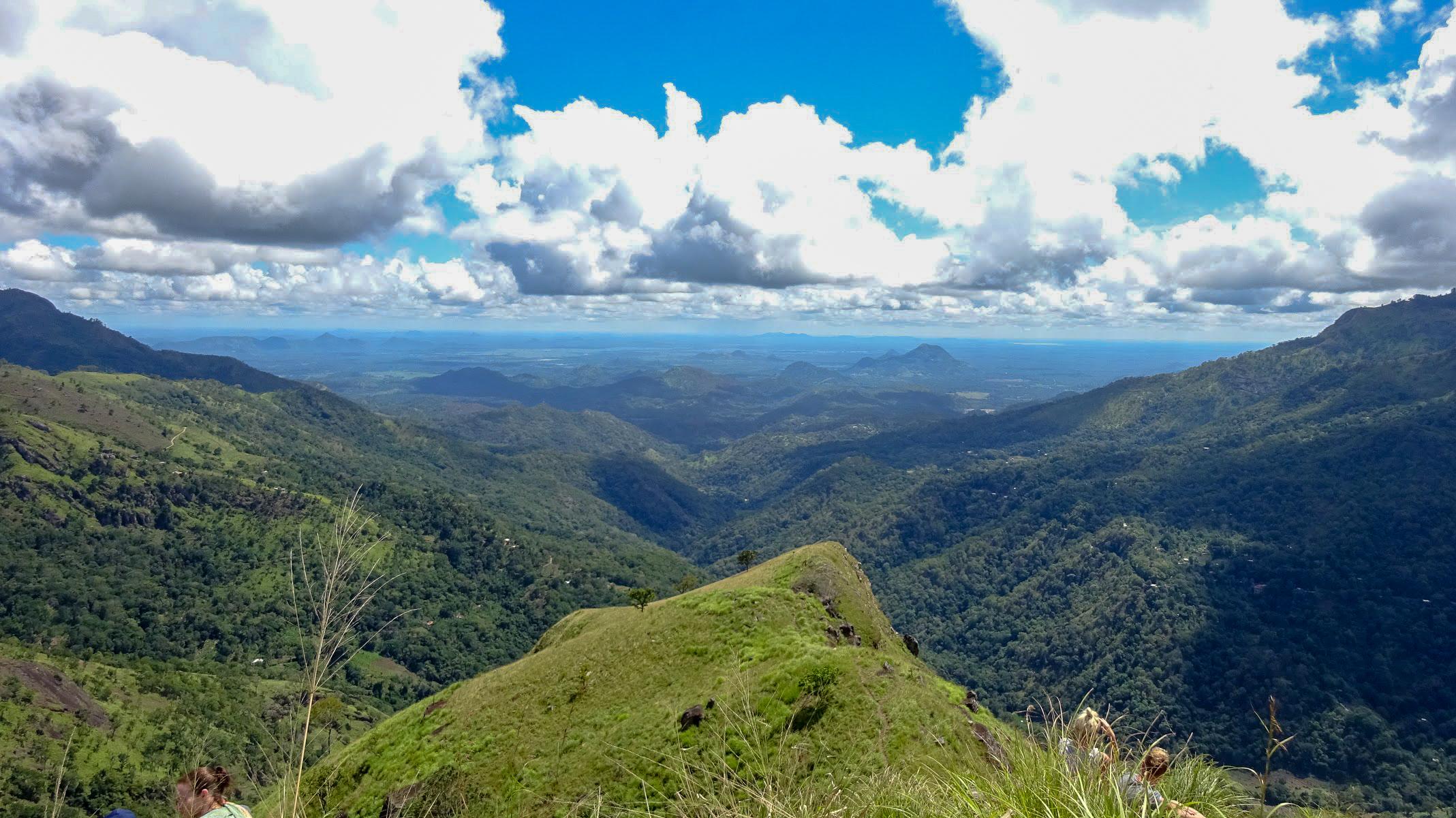 view of the green hills from Little Adam's Peak, Ella, Sri Lanka