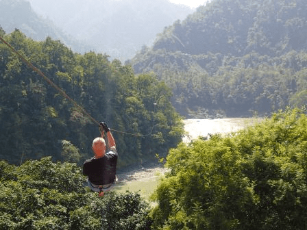 Flying Fox Rishikesh, ziplining in Rishikesh, adventure activities in Rishikesh, zip line tour over the Ganges, Shivpuri