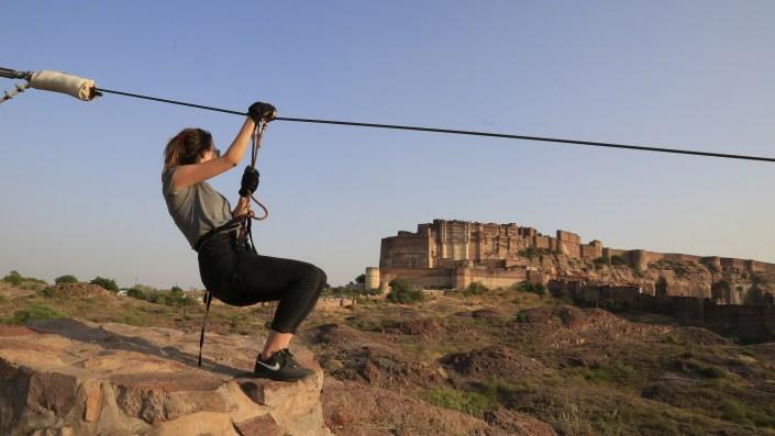 Flying Fox Jodhpur, Mehrangarh Fort, jodhpur, Rajasthan, flying fox, ziplining, ziplines, india, adventure sports