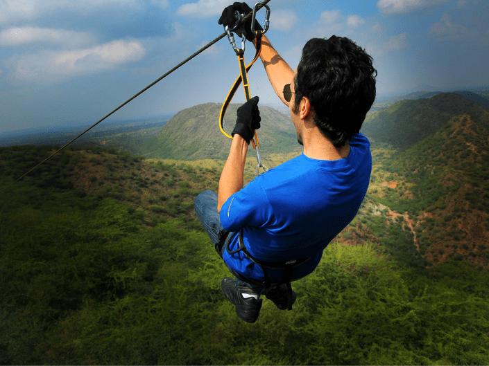 Flying Fox Neemrana, Neemrana Fort Palace, zipline tour, ziplining, flying fox, weekend getaway from delhi