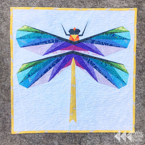 dragonfly mini quilt and