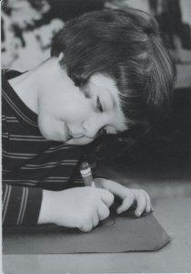 Sara at age five