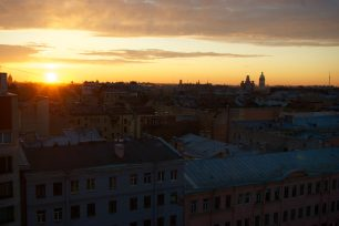 Zachód słońca w Petersburgu