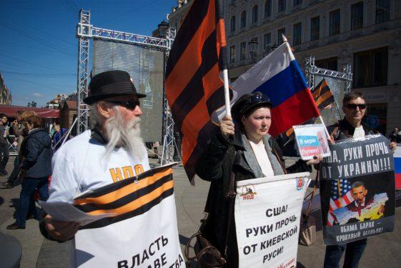 Pro-Putiniści w Petersburgu