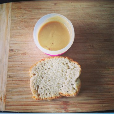 Linseed Bread and Home made peanut butter