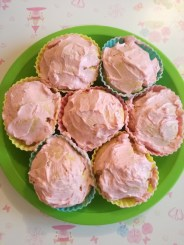Gluten Free Cupcakes with all natural pink icing