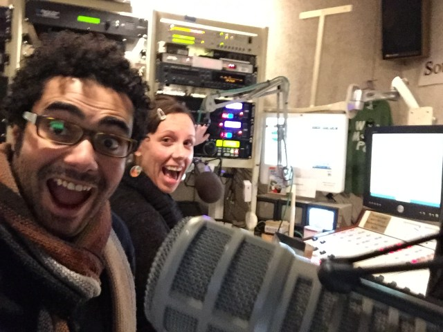 With DJ Anni at WMPG