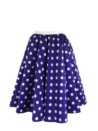 Girls Lindy Hop Bop Polka Dot Dance Skirt and Scarf