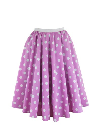 Ladies Polka Dot Skirt & Scarf Rock & Roll Fancy Dress