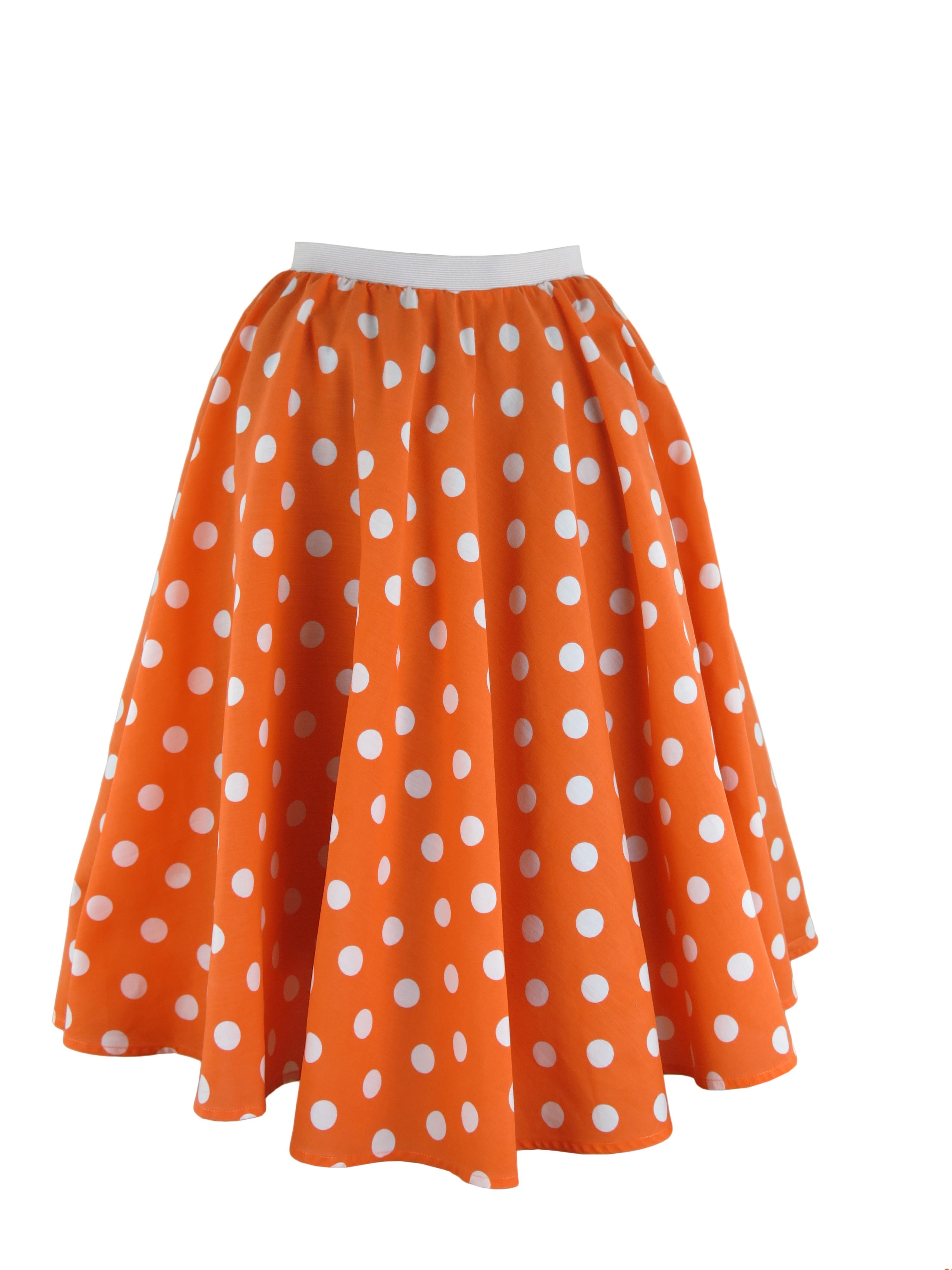 5ba7709ef1853 Ladies Polka Dot Skirt   Scarf Rock   Roll Fancy Dress