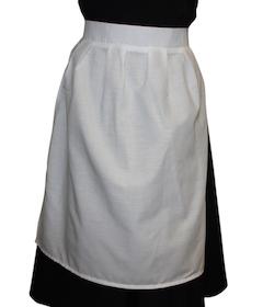 Childrens White Fancy Dress Apron – Edwardian Victorian Maid