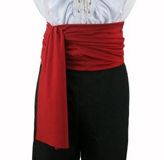 Pirate Fancy Dress Waist Sash Zorro Dracula Buccaneer LARP Costume