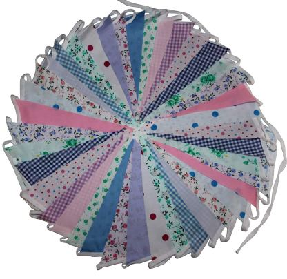 Floral Mix bunting 12m single sided bunting