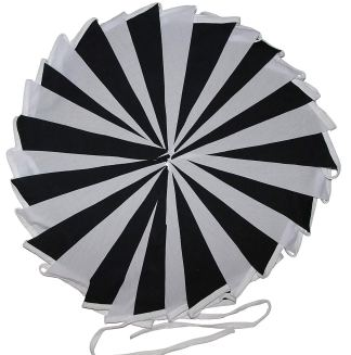 Black and White Bunting – 10m Single Sided Bunting