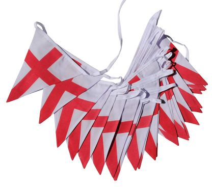 St Georges Cross Bunting – 10m Double Sided Bunting