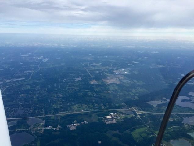 The sort of view I like for landing