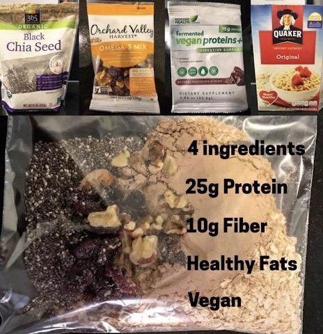 High Protein Travel Oatmeal (Vegan)