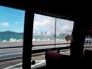 リムジンバス車窓