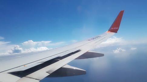 チェジュ航空機窓