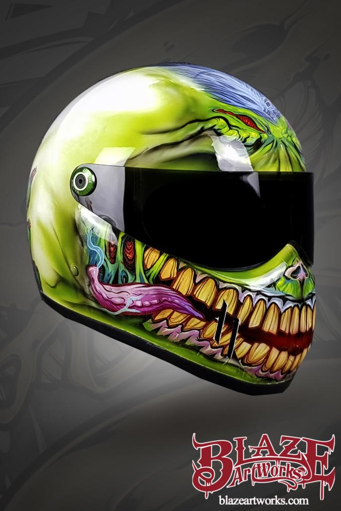 Motorcycle Helmet Vinyl Wrap : motorcycle, helmet, vinyl, Blaze, Artworks, Vinyl, Zombie, Helmet, Flyland, Designs,, Freelance, Illustration, Graphic, Design, Brian, Allen