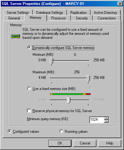 SQL Server Configuration Settings | Inside Microsoft SQL Server 2000