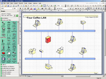 Starting A Network Diagram Microsoft Office Visio 2003 Inside