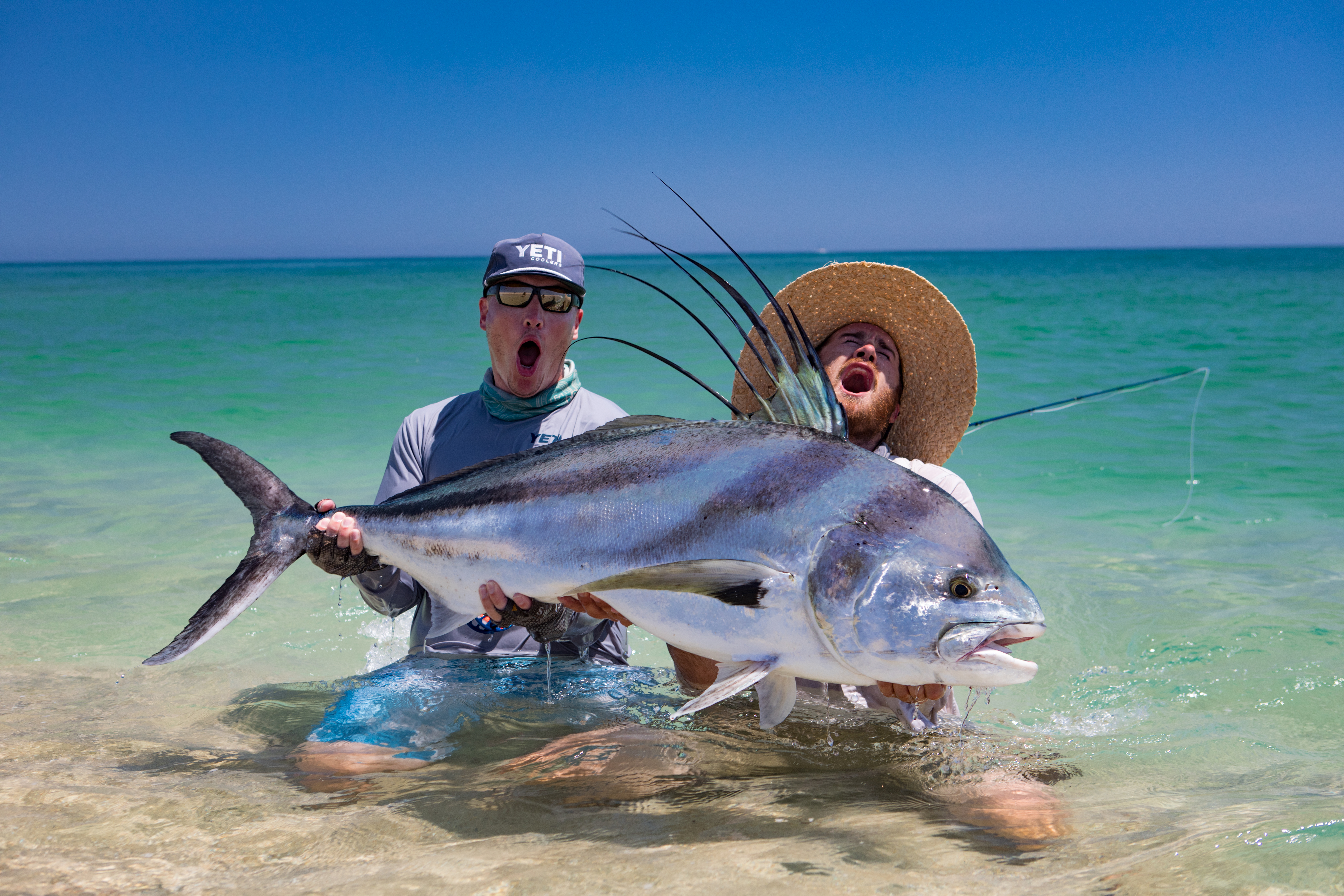 5 tips catching giant rooster fish in baja mexico fly for Rooster fish pictures