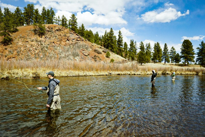 Anglers enjoy a day in Deckers, fly fishing in the South Platte River