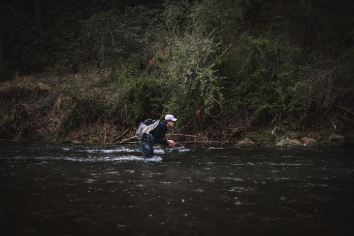 Shooting an angler with a fast shutter speed