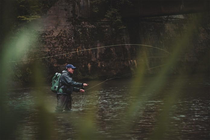 Shooting fly fishing photos through objects