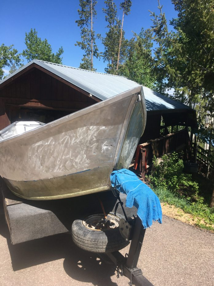The 26-year-old Willie's Drift boat was stripped down to the bare metal.