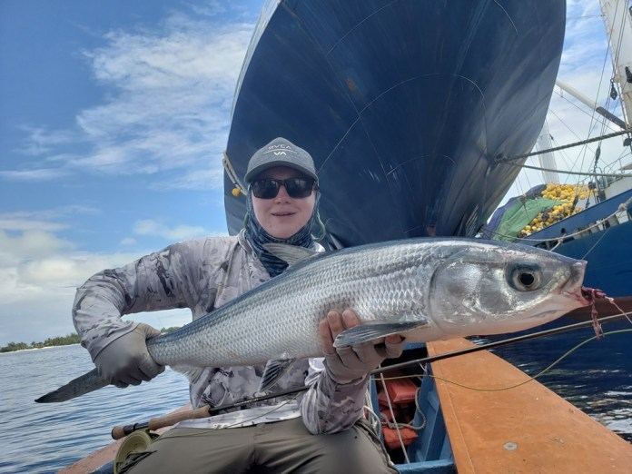 Milkfish on fly