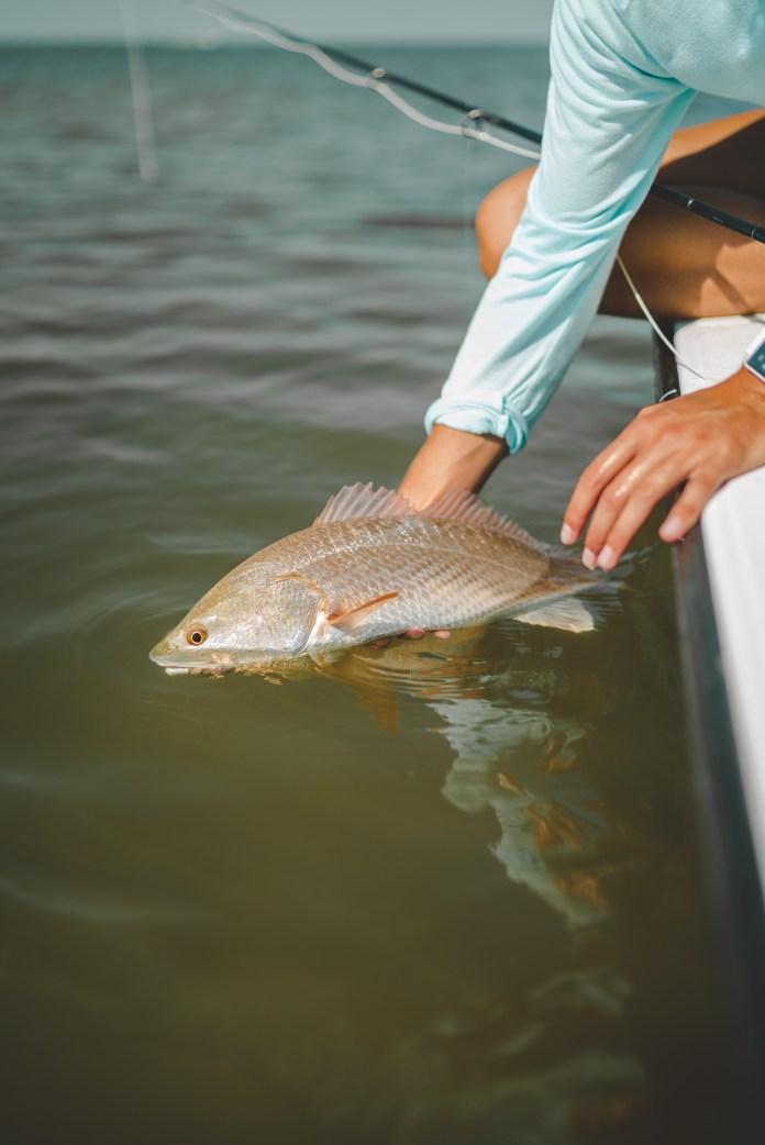 meris with redfish