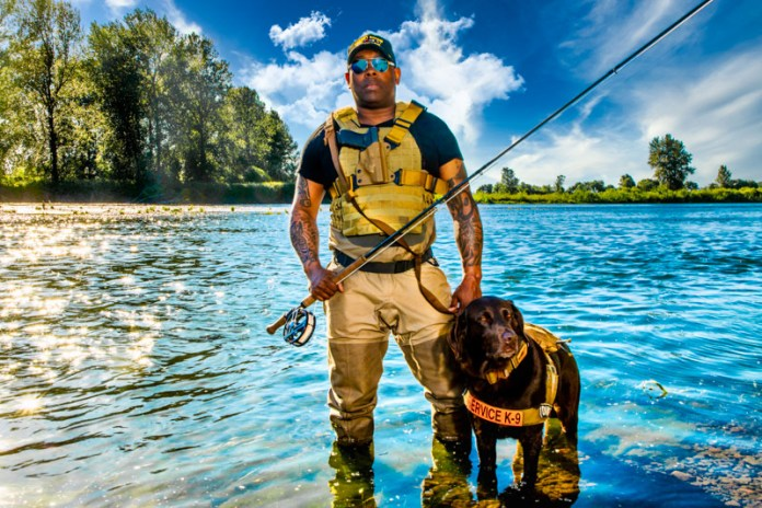 Chad Brown and Axe fishing