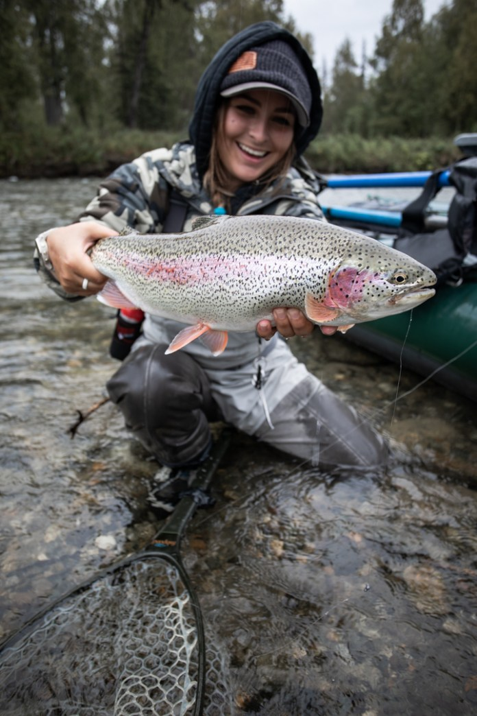 tessa shetter fly fishing alaska
