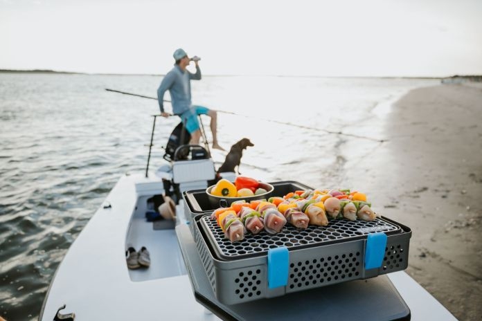 Nomad grill on boat