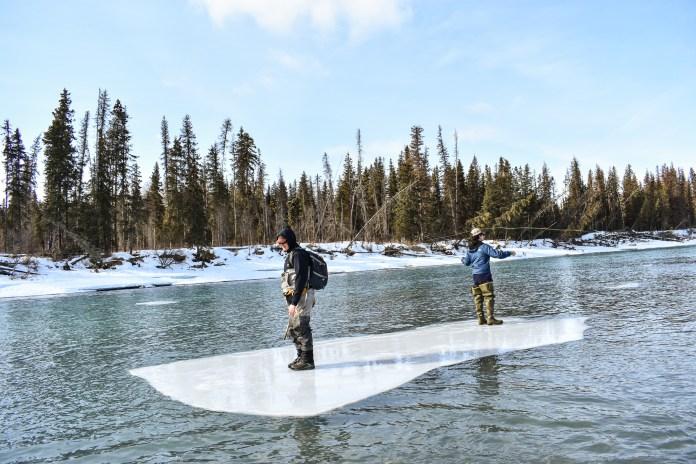 alaska fishing winter iceberg