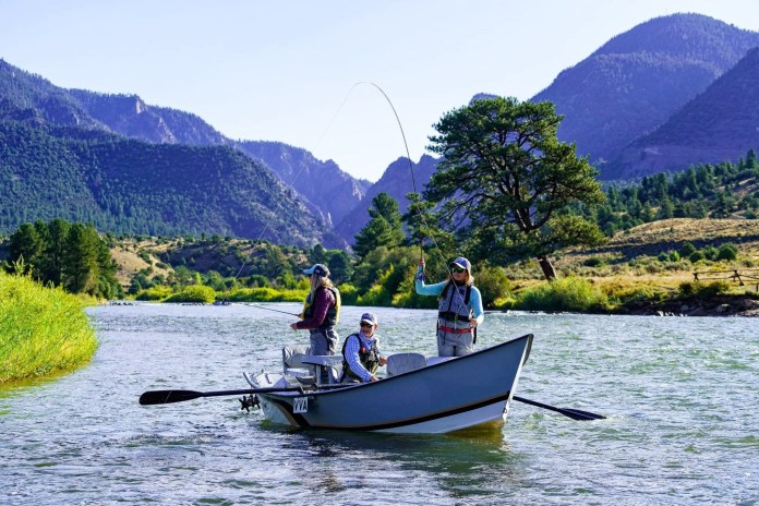 Drift Boat Fishing Gold Medal Section Upper Colorado River