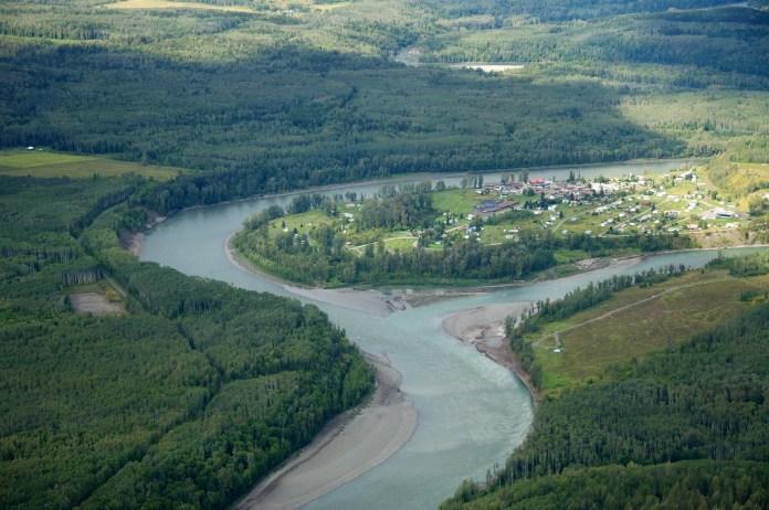 'Ksan at Skeena/Bulkley confluence