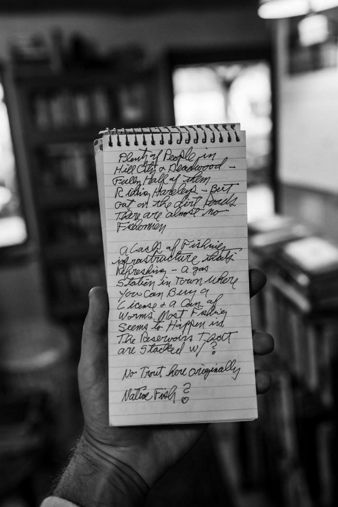 filled notebook