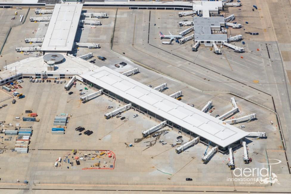 Concourse B Modernization Aerial