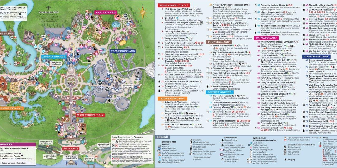 disney magic kingdom map 2020
