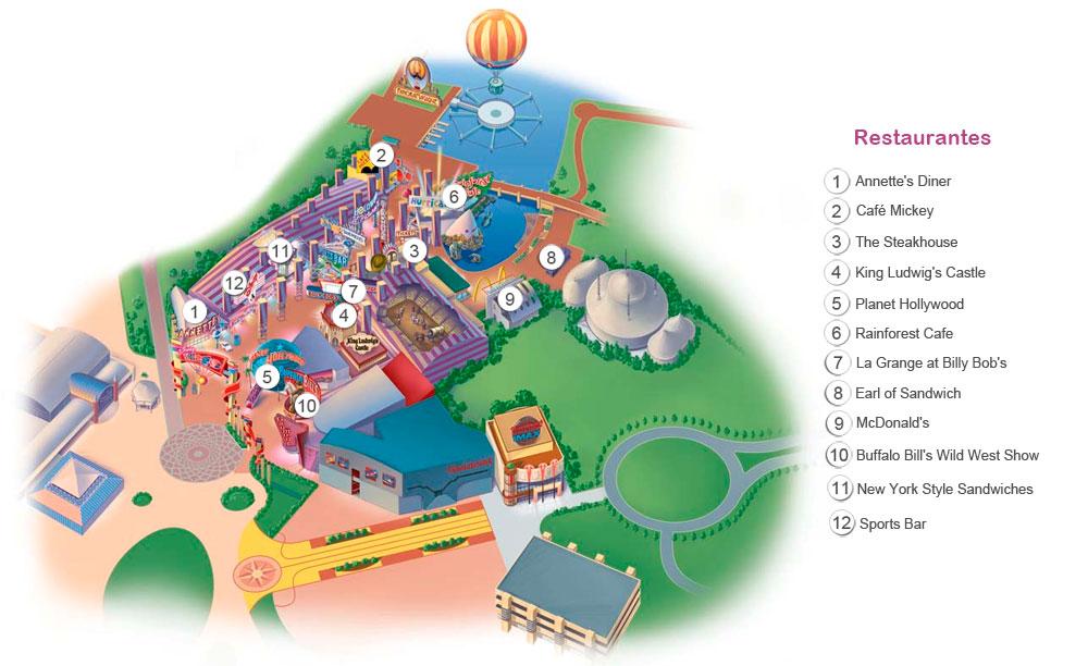 FM DISNEY VILLAGE MAP
