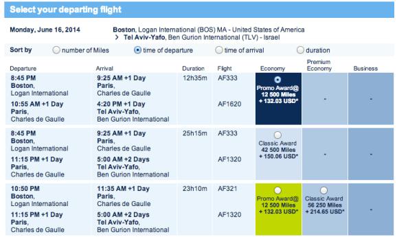 Selecting Departure Flight